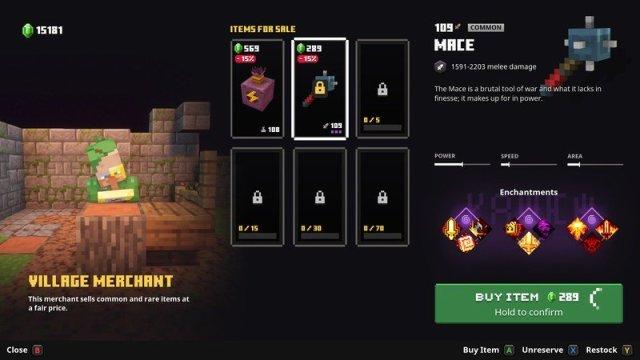 Minecraft Dungeons Village Merchant