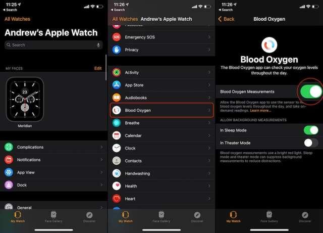 Enable Blood Oxygen Measuring Apple Watch S6