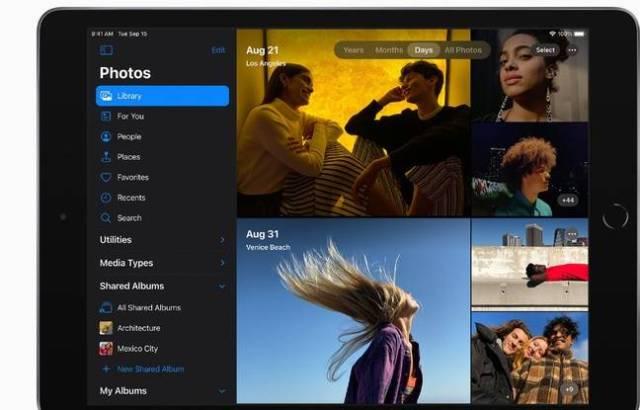 La dernière génération d'iPad, plus rapide pour le traitement des photos.
