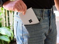 Surface Duo may be wide, but it's not too big for your front pocket