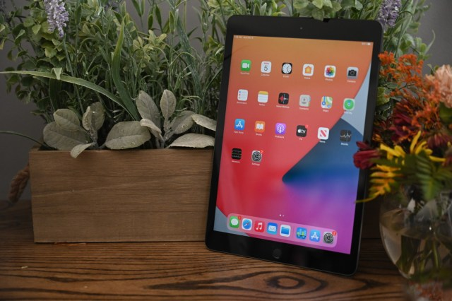 Affichage sur l'iPad de 8e génération