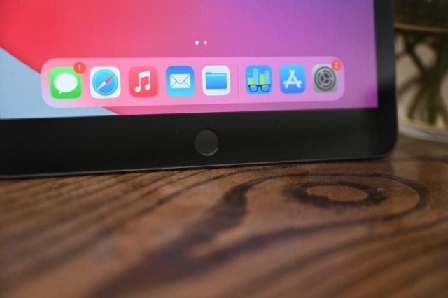 Bouton d'accueil sur l'iPad 8e génération