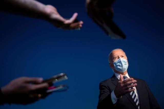 Le candidat démocrate, Joe Biden, face aux journalistes, le 6octobre à Hagerstown (Maryland).