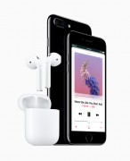 The 3.5 mm jack is gone, replaced by Bluetooth and Lightning