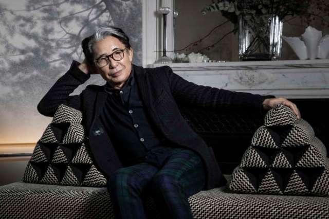 Le designer et créateur japonais Kenzo Takada, le 9 janvier 2019 à son domicile parisien.