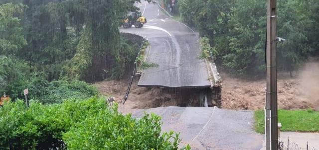 Le pont Maissa, à Saint-Martin-Vésubie, a été emporté par la crue du Boréon.