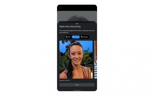 New Pixel phones to take default selfies without retouching