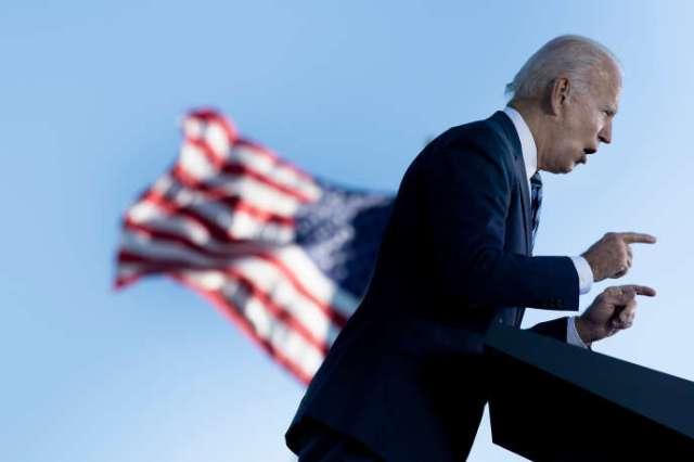Le candidat démocrate Joe Biden, le 6 octobre àGettysburg (Pennsylvanie).