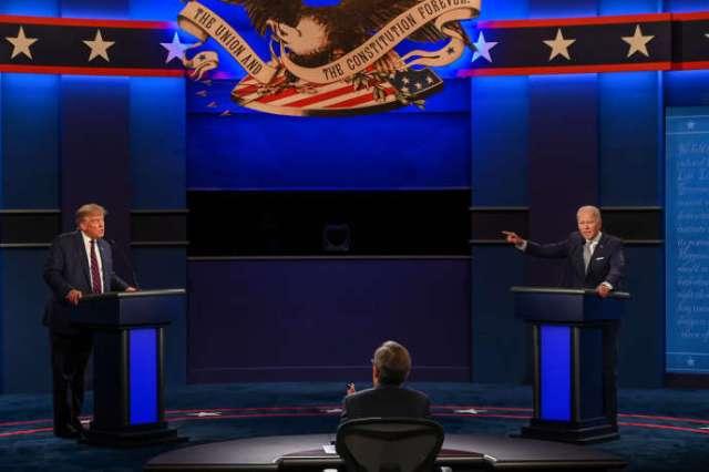 Donald Trump et Joe Biden, lors du premier débat,à Cleveland (Ohio), le 29 septembre.
