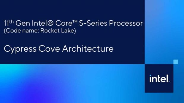 Processeur Core de 11ème génération alias Rocket Lake-S