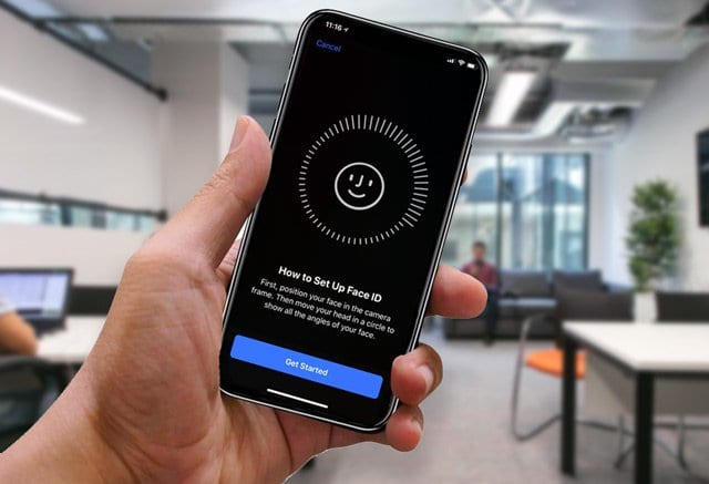 set up Face ID in Office