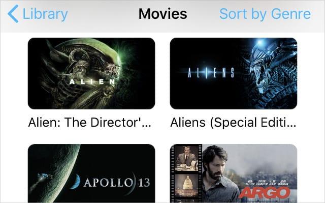 Movies in Apple TV app on iPhone