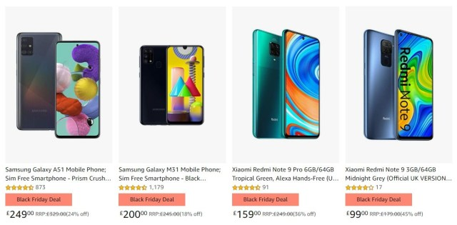 Amazon UK discounts select smartphones by up to 40% for Black Friday Week