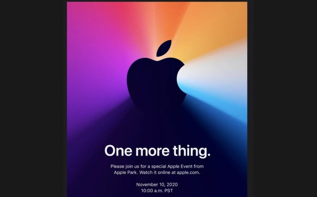 Apple announces November 10 event for ''one more thing''