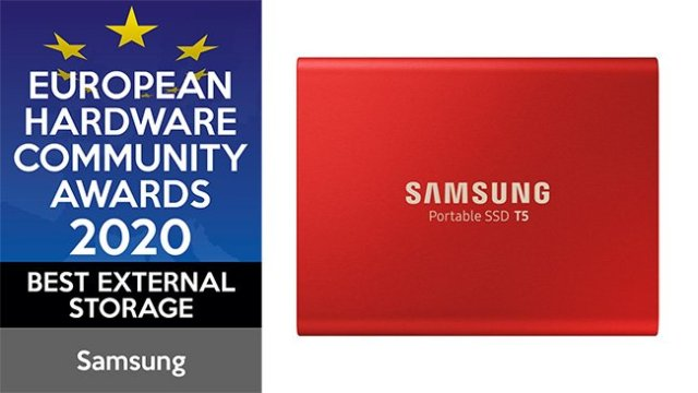 Samsung European Hardware Community Awards 2020 Best External Storage SSD T5
