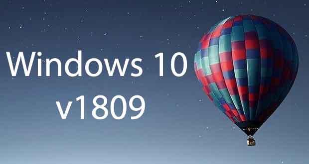 Windows 10 v1809