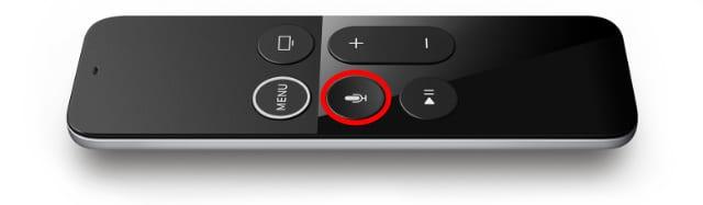 Siri button on Siri Remote