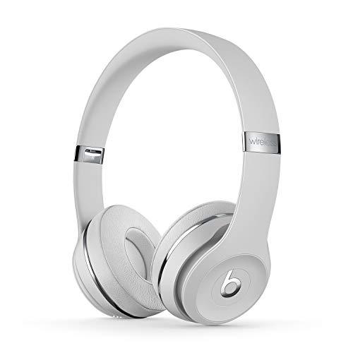 Casque supra-auriculaire BeatsSolo3 sans fil- Puce AppleW1 pour casques et écouteurs, Bluetooth classe1, 40heures d'écoute- Argent satiné