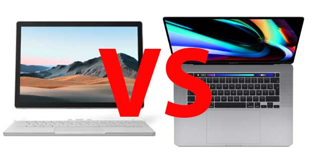 Surface Book 3 Vs MacBook Pro