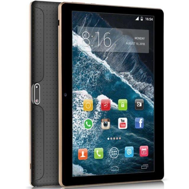 BEISTA Tablette tactile K107 - 64Go - 4Go RAM - 10.1 Pouces HD - Android 9.0 - Quad Core- 4G Double SIM,WiFi,GPS - Noir