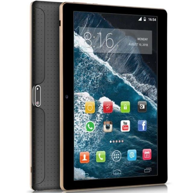 BEISTA Tablette tactile K107 - 64Go - 4Go RAM - 10.1 Pouces HD - Android 9.0 - Quad Core- 4G Double SIM,WiFi,GPS - Noir