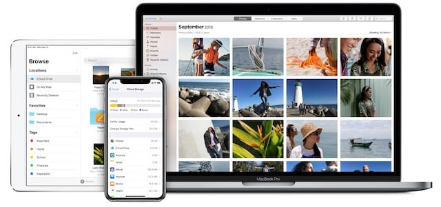 Apple products using iCloud