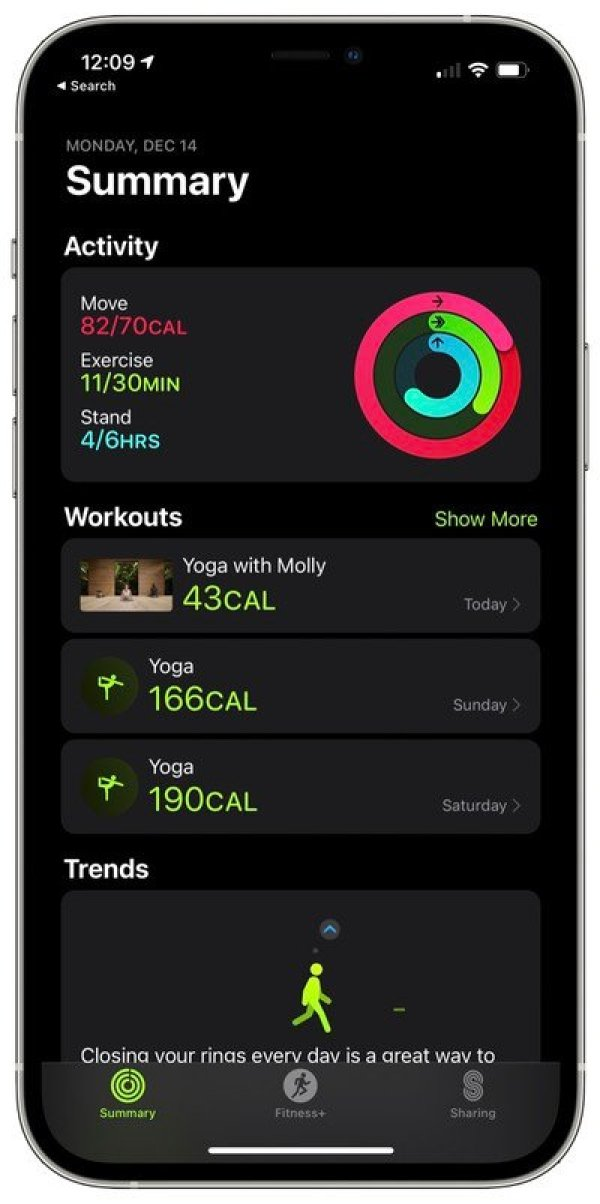 apple fitness plus workout list