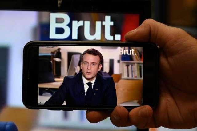 Lors de l'entretien accordé par Emmanuel Macron à Brut, le 4 décembre.