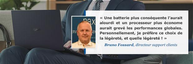 Avis Bruno Fossard sur l'ultraportable Asus ExpertBook B9