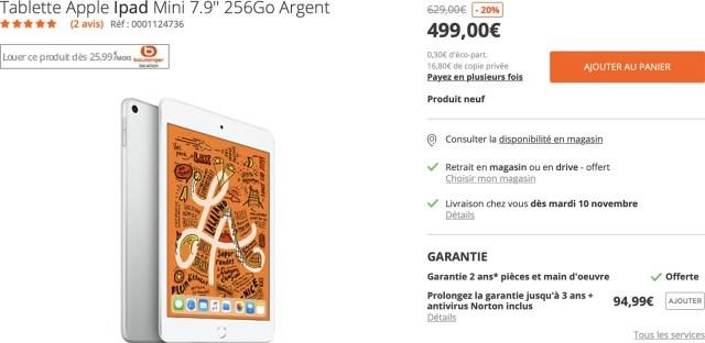 iPad mini Boulanger