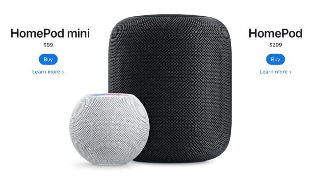 HomePod and HomePod mini