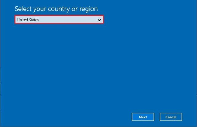 Windows 10 activation region