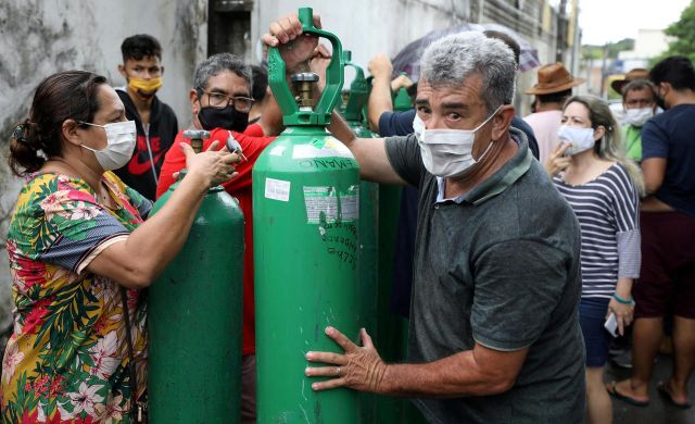 Manaus, le 15 janvier 2021./REUTERS/Bruno Kelly