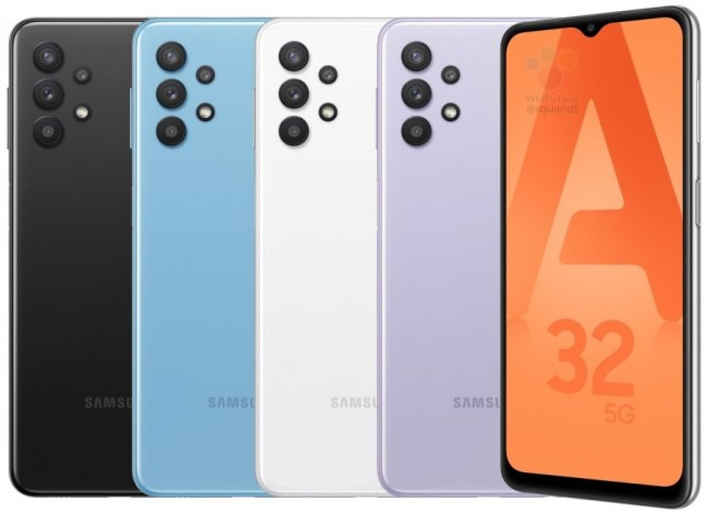 Samsung Galaxy A32 5G appears in colorful press renders