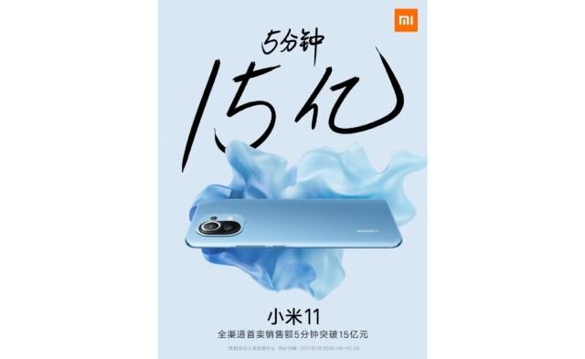 Xiaomi sells 350,000 Mi 11 units in 5 minutes