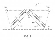 Schematics from an Apple patent on foldable phone design