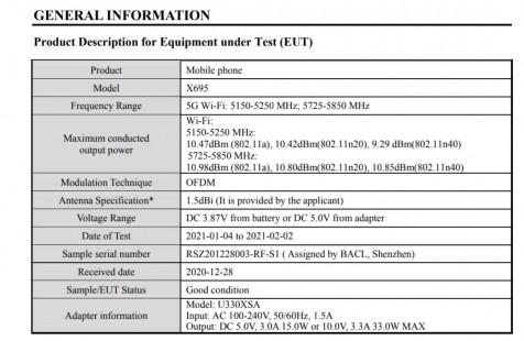 Infinix Note 10 Pro FCC listing details