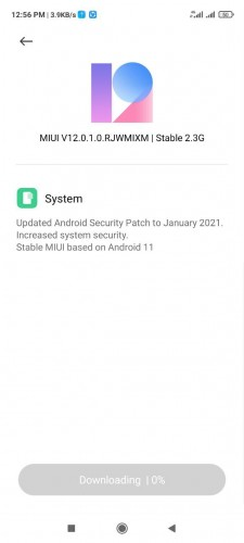 Redmi Note 9s Android 11 update