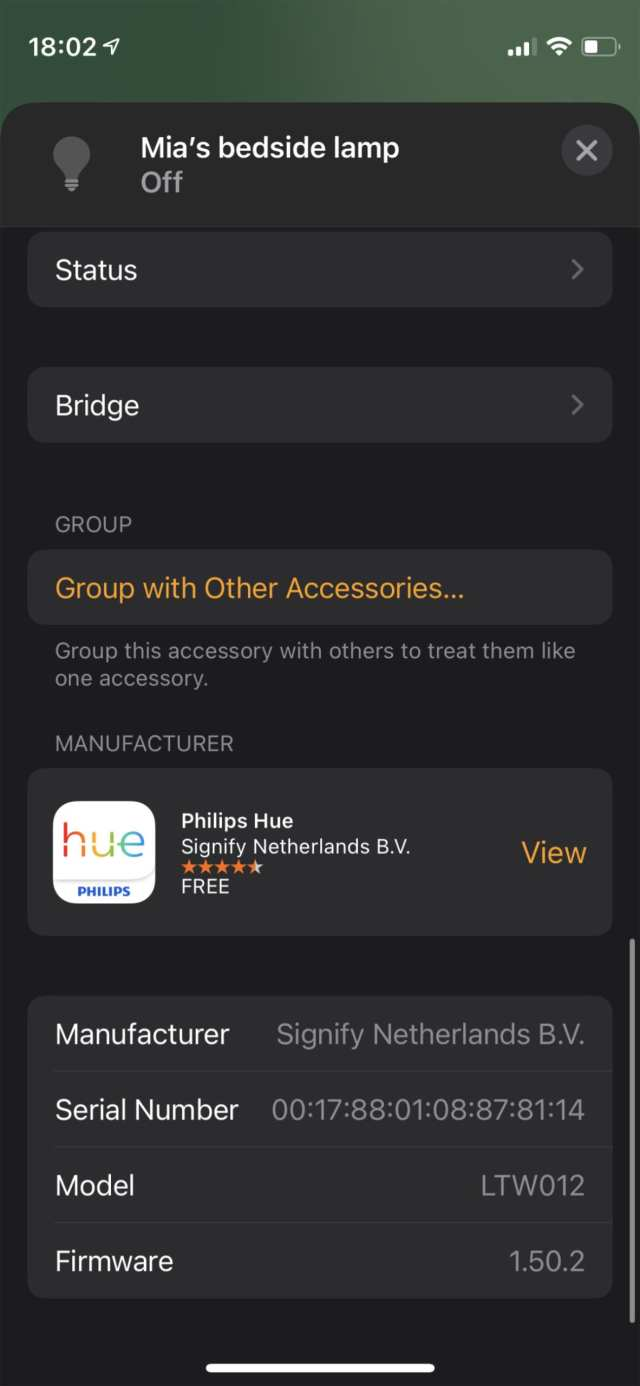 Add to a Group option in Home app