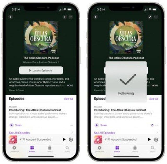 podcast app ios 14 5