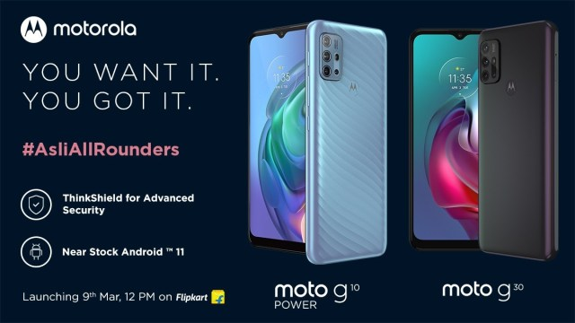 Motorola Moto G10 Power and Moto G30 coming to India on March 9