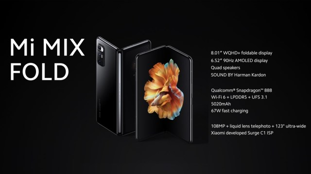 Xiaomi's foldable Mi Mix Fold brings the first liquid lens with 3x magnification