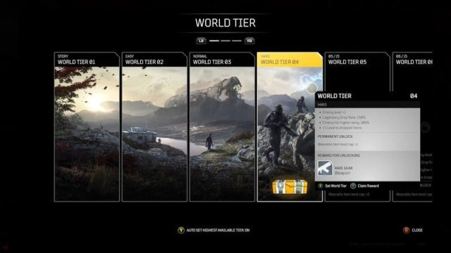 Outriders World Tier Difficulty