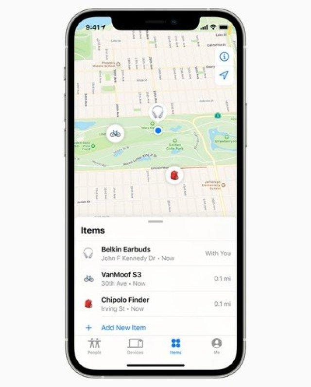 find my app items tab