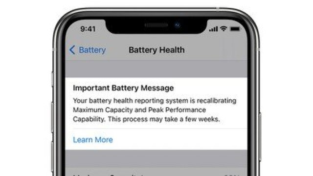 battery health recalibration