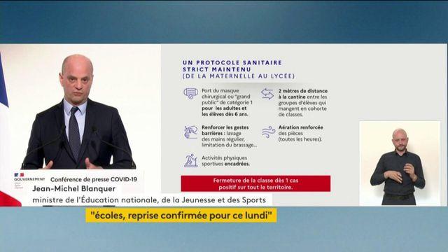 Jean-Michel Blanquer fait le point sur le nouveau protocole sanitaire