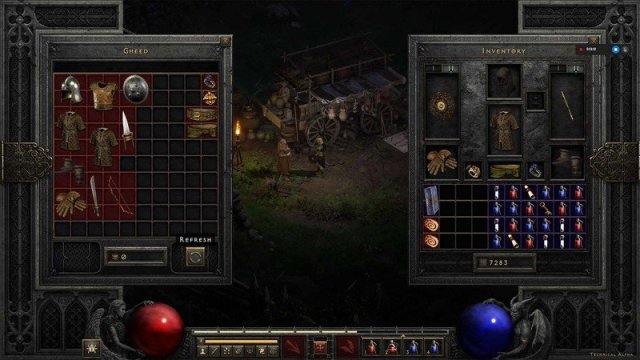 Diablo 2 Resurrected Tech Alpha Gamble Refresh