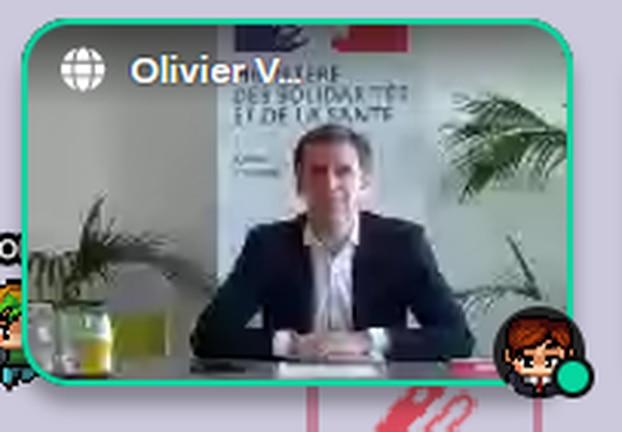 Olivier Véran, invité surprise du Hackathon Covid.