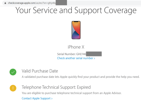 apple check coverage