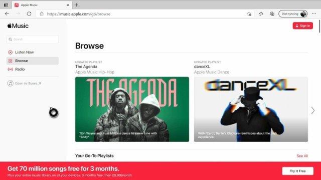 Apple Music, Microsoft Edge Xbox